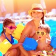 Happy family in summer vacation — Stock Photo #45677307