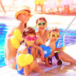 Cheerful family on beach resort — Stockfoto #45677331