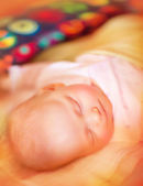 Newborn baby asleep — Stock Photo