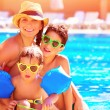 Happy family in summer vacation — Stock Photo #46057683