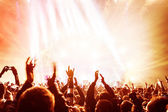 Crowd enjoying concert — Stock Photo