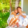 Romantic couple on vacation — Stock Photo