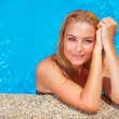 Female enjoying summer holidays — Stock Photo