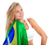 Admirer of Brazilian football team — Stock Photo