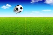 Illustration der fußball ball in bewegung — Stockfoto