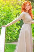 Beautiful happy bride — Stock Photo