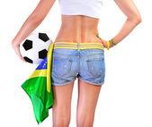 Brazilian football team supporter — Stock Photo