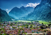 Beautiful mountainous village — Stock Photo