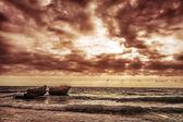 Overcast weather on the sea — Stock Photo