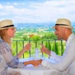 Young couple having breakfast — Stock Photo #50160691