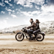 Active couple on the motobike — Stock Photo #50546741