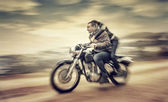 Riding on motorcycle — Photo
