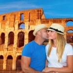 Romantic vacation to Rome, Italy — Stock Photo