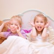Happy kids make faces — Stock Photo #50985055