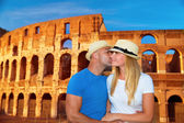 Romantic vacation to Rome, Italy — Stock Photo