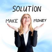 Find solution concept — Stock Photo