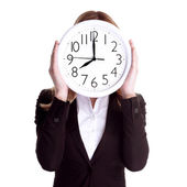 Punctual worker concept — Stock Photo