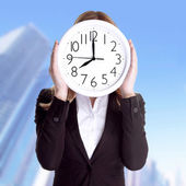 Punctual office worker concept — Stock Photo