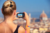 Photographing beautiful view — Stock Photo