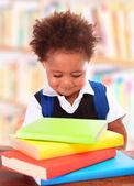 Little clever preschooler — Stockfoto