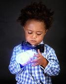 Cute little scientist — Stock Photo