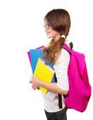 Happy school girl — Stock Photo