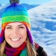 Cute girl having fun outdoor, Christmas winter holidays travel a — Stock Photo #7790456