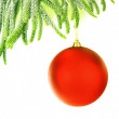 Christmas tree border — Stockfoto #8016411