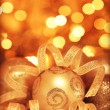 Golden baubles Christmas tree ornament — Stock Photo #8110093