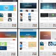 6 Website Page Template Layout - Web Design — Stock Photo
