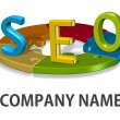 SEO logo company concept — Stock Photo