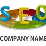 SEO logo company concept — Stock Photo