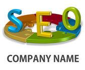 Seo logo společnosti koncept — Stock fotografie