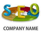 Seo logo bedrijf concept — Stockfoto