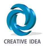 Logo bedrijf ontwerp isea - logo ontwerp branding — Stockfoto