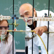 Foto Stock: Professor and student in laboratory