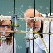 Foto Stock: Teacher and student in laboratory