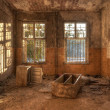 Stock Photo: Old deserted dirty room