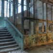 Old elevator in an abandoned hospital — Stok fotoğraf