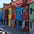 Colored houses on Burano — Stock Photo