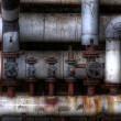 Stock Photo: Old pipes with valves