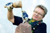 Female Stonemason — Stock Photo