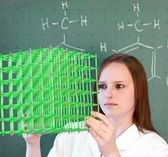 Chemical molecule model analysis — Stock Photo
