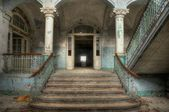 Lobby of health resorts in Beelitz — Stock Photo