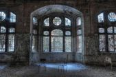 Old abandoned sanatorium in Beelitz — Stock Photo