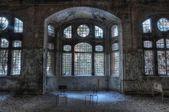 Old abandoned sanatorium in Beelitz — Stock Photo