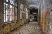 Abandoned Corridor in Beelitz Heilstätten — Stock Photo