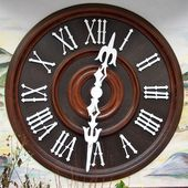 Cuckoo Clock Dial — Stock Photo
