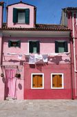Pink house on Burano — Photo