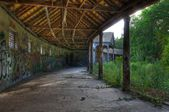 Old roofed corridor — Stock Photo